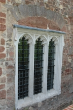 Oriel room window in the refectory wing