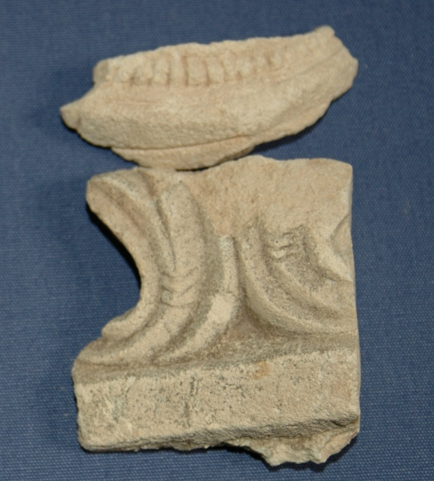 Two delicately carved fragments of Caen stone possibly from an early 16th century tomb