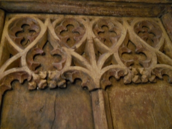 Detail of Tudor screen in refectory wing