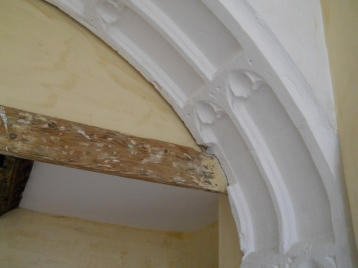Beer stone arch in the oriel room in the refectory wing