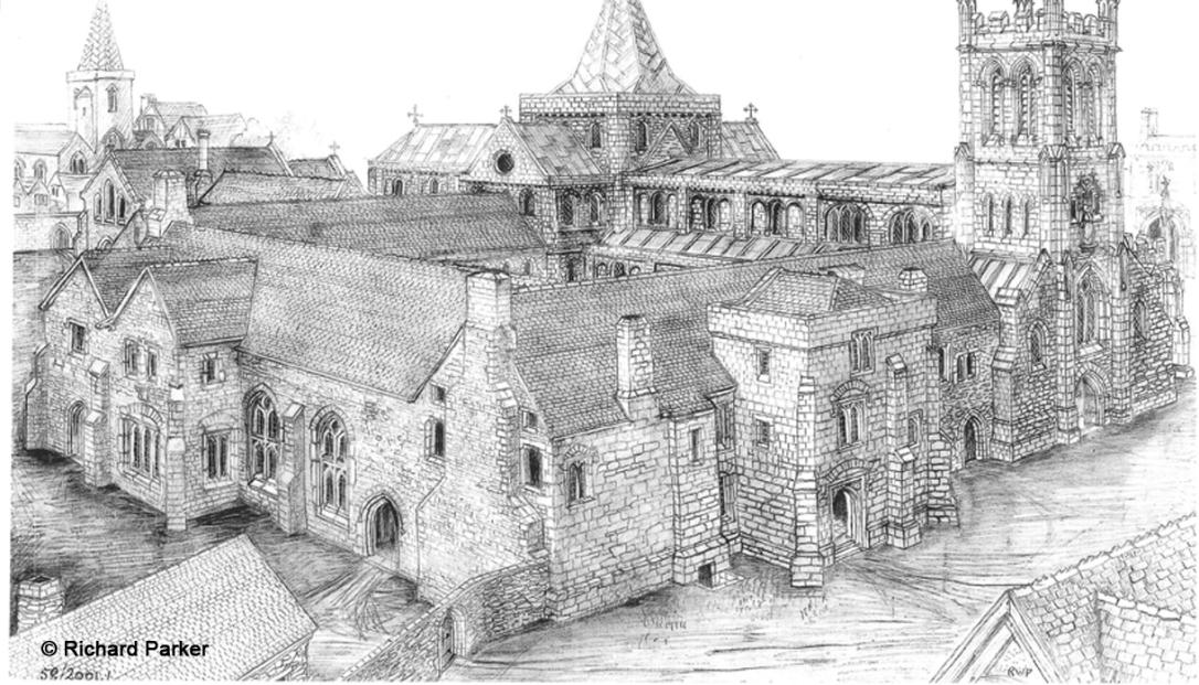 St Nicholas Priory by R Parker
