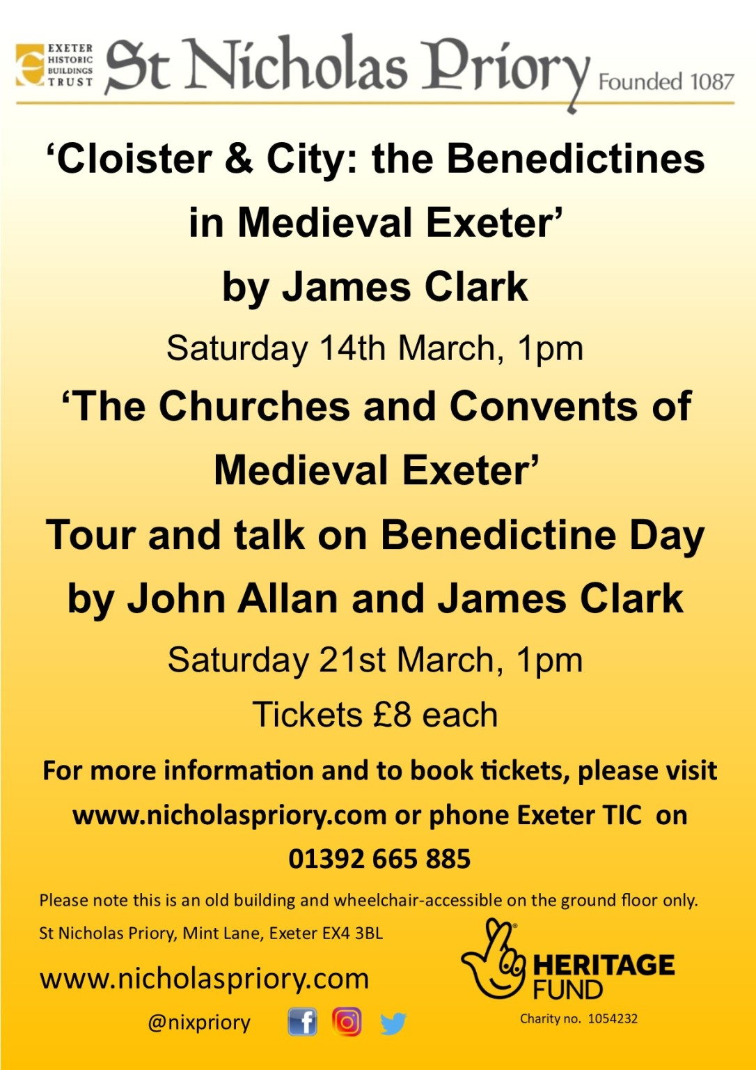 Benedictine Combined Lectures Mar20